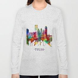 Tulsa Oklahoma Skyline Long Sleeve T-shirt