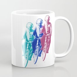 Albert Einstein by bike Coffee Mug