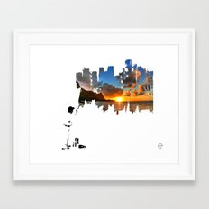 A BETTER DAY Framed Art Print