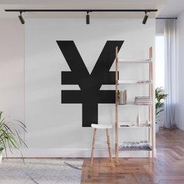 Yen Sign (Black & White) Wall Mural