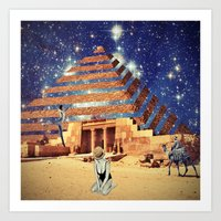pyramid Art Prints featuring Pyramid by Cs025