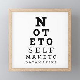 Eyesight Test Quote Framed Mini Art Print
