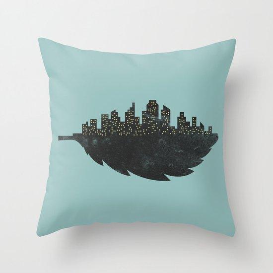 Leaf City Throw Pillow