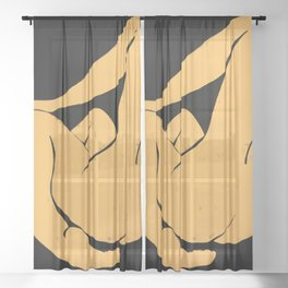 Yellow nude Sheer Curtain