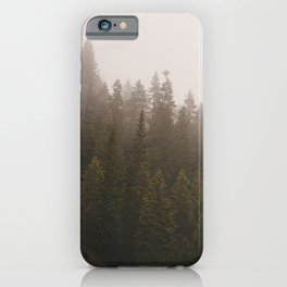 Elevation Drop - Foggy Forest PNW iPhone Case