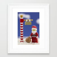 santa Framed Art Prints featuring Santa by Pedro Nogueira
