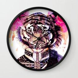 Tigre militar 2 Wall Clock