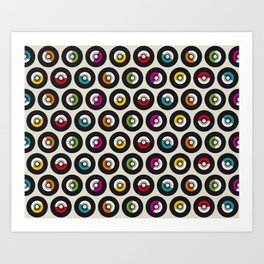 Dancing vinyls Art Print
