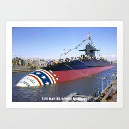 USS DANIEL BOONE (SSBN-629) Art Print