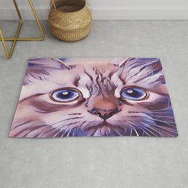 Birman The Blue Eyed Cat Rug