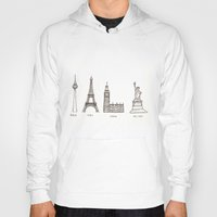 cities Hoodies featuring Cities by johanna strahl