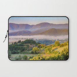 Mist in the valleys, Umbria, Italy Laptop Sleeve