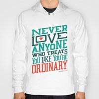 oscar wilde Hoodies featuring Never Ordinary - Oscar Wilde by Travis Cooper