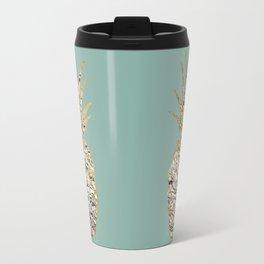 Modern Chic Marble Gold Pineapple Fruit Travel Mug