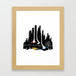 Beware Of Those Hands Framed Art Print