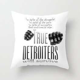True Detroiters Throw Pillow