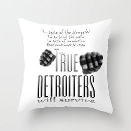 True Detroiters Throw Pillow