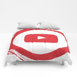 youtube youtuber - broadcast best design you tube for YouTube lover Comforters