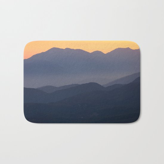 Mountain Sunset (Big Bear Lake, California) Bath Mat
