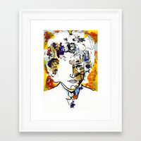 bob dylan Framed Art Prints featuring bob dylan by Chris Shockley - shock schism