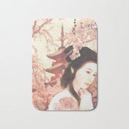 Asian Rose Bath Mat