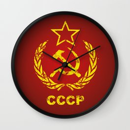 CCCP USSR Communist Used Wall Clock