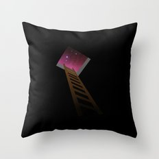 Escape to heaven - pink Throw Pillow