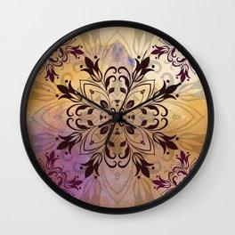 ELEGANT FLORAL WATERCOLOUR MANDALA Wall Clock
