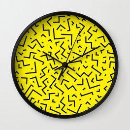Memphis pattern 35 Wall Clock