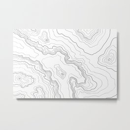 Topography map Metal Print