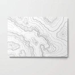 Topography map Metal Print
