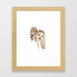 Gold Eyeshadow - Version 1 Framed Art Print