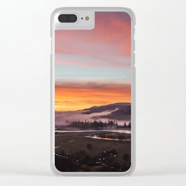 Smokey Dusk Valley Clear iPhone Case