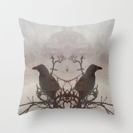 Hugin & Munin Throw Pillow