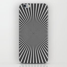 3D Room - White On Black iPhone Skin