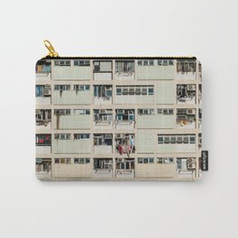 Colorful building Facade in Hong Kong - pastel color - Basketball court, Hongkong Carry-All Pouch