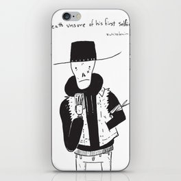 Death Unsure of His First Selfie iPhone Skin