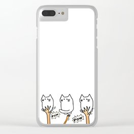 cats wins 237 Clear iPhone Case