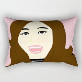 Knock Knock! Tzuyu Pink Rectangular Pillow