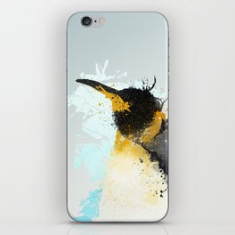 Emperor Penguin and Light Blue iPhone Skin
