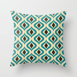 Mid Century Pattern in Sterling  Throw Pillow