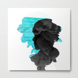 BTS - V Smoke Effect Metal Print
