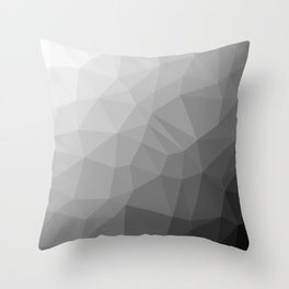 LOWPOLY BLACK AND WHITE Throw Pillow