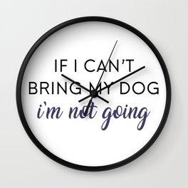 Bringing my Dog Wall Clock