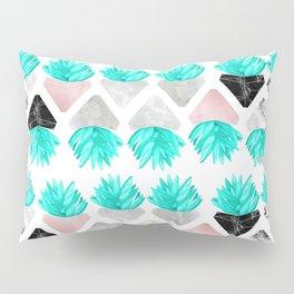 Marble Succulent Pillow Sham