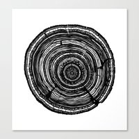 tree rings Canvas Prints featuring Tree Rings by Irene Leon