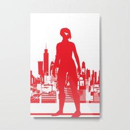 Mirror's Edge Minimalists Poster Metal Print