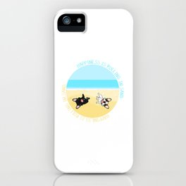 Frenchies Rolling In The Sand iPhone Case