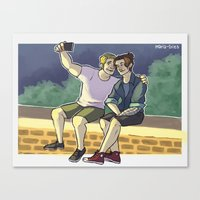 stucky Canvas Prints featuring stucky fourth of july 2 by maria euphemia