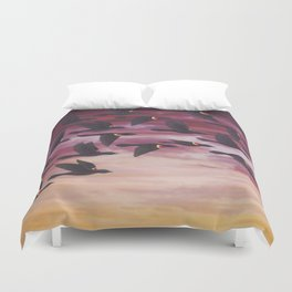 red-winged blackbird flock in flight Duvet Cover